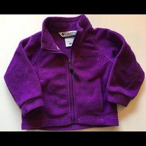Columbia Fleece Purple Jacket Girl 2T